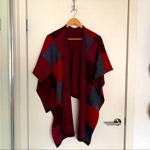 Bundle up Scarf- Bordeaux Cranberry Dark Slate
